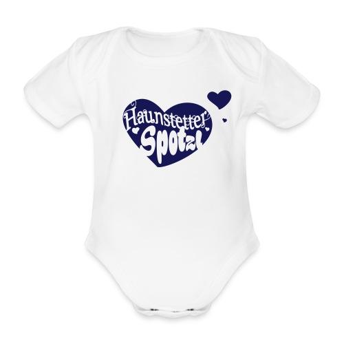 Baby Body weiß | Haunstetter Spotzl - Baby Bio-Kurzarm-Body