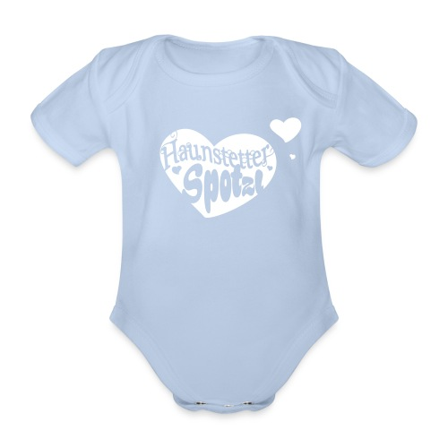 Baby Body eisblau | Haunstetter Spotzl - Baby Bio-Kurzarm-Body