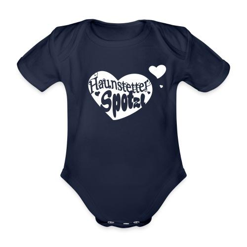 Baby Body navy | Haunstetter Spotzl - Baby Bio-Kurzarm-Body