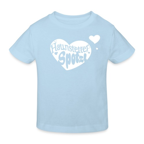 Kinder Bio Shirt skyblue | Haunstetter Spotzl | weiß - Kinder Bio-T-Shirt