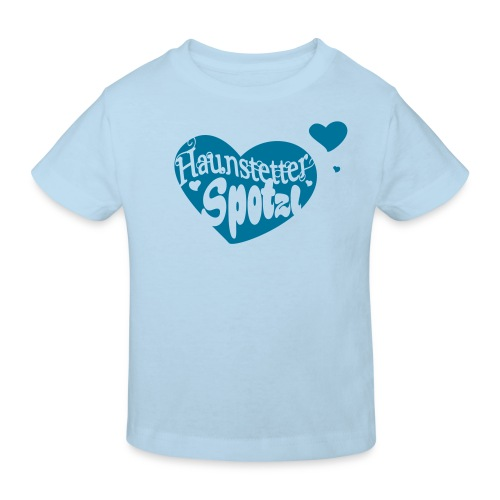 Kinder Bio Shirt skyblue | Haunstetter Spotzl | petrol - Kinder Bio-T-Shirt