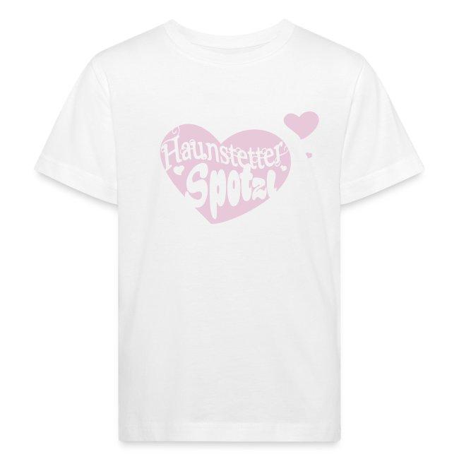 Kinder Bio Shirt weiß | Haunstetter Spotzl | rose