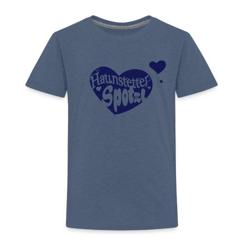 Kinder Shirt blau meliert | Haunstetter Spotzl | navi - Kinder Premium T-Shirt