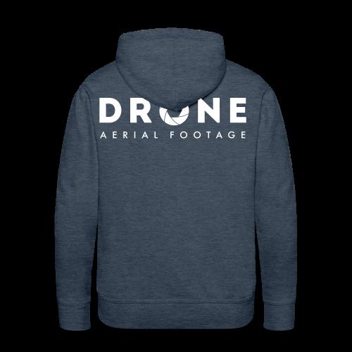 Hoodie: Drone Aerial Footage (men) | Jeansblue - Mannen Premium hoodie