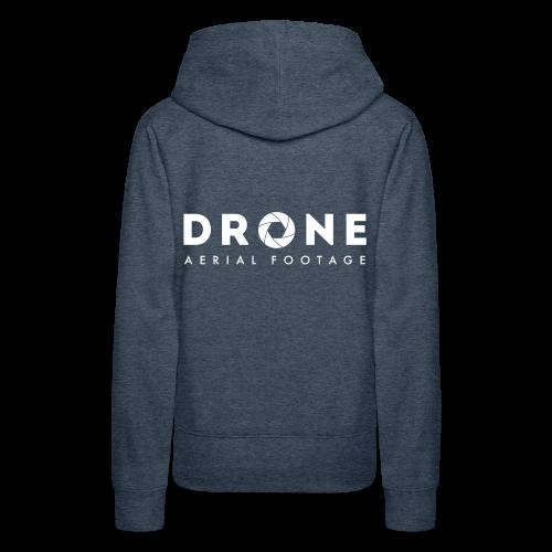 Hoodie: Drone Aerial Footage (woman)   Jeansblue - Vrouwen Premium hoodie