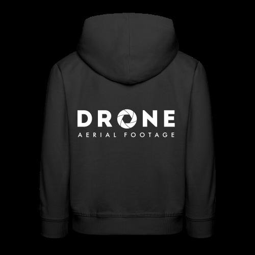 Hoodie: Drone Aerial Footage (kids) | Black - Kinderen trui Premium met capuchon