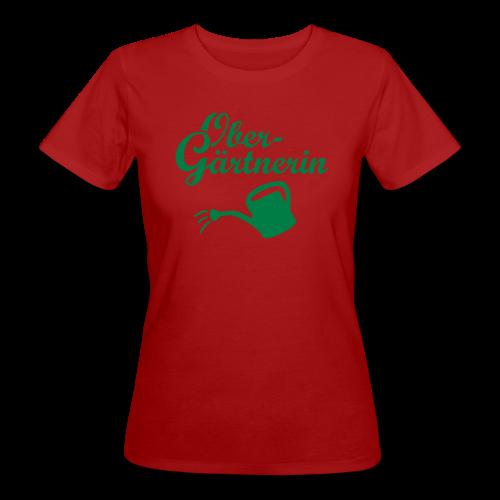Obergärtnerin Gießkanne Bio T-Shirt - Frauen Bio-T-Shirt