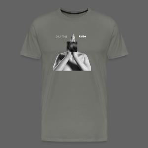 Kube T-Shirt Asphalt - Men's Premium T-Shirt