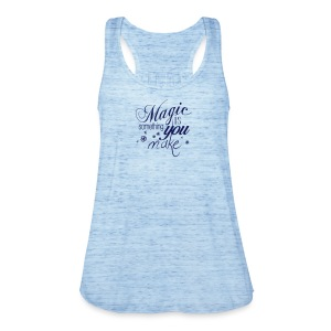 Girls Tank Top | iceblue/navi | Magic is something you make - Frauen Tank Top von Bella