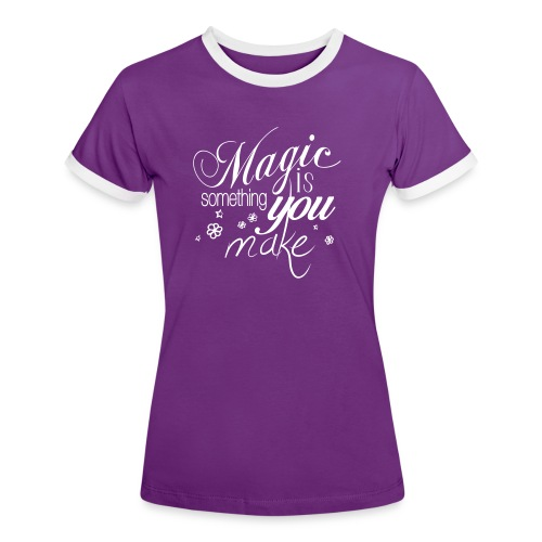 Girls TwoTone Shirt | lilac/white | Magic is something you make - Frauen Kontrast-T-Shirt