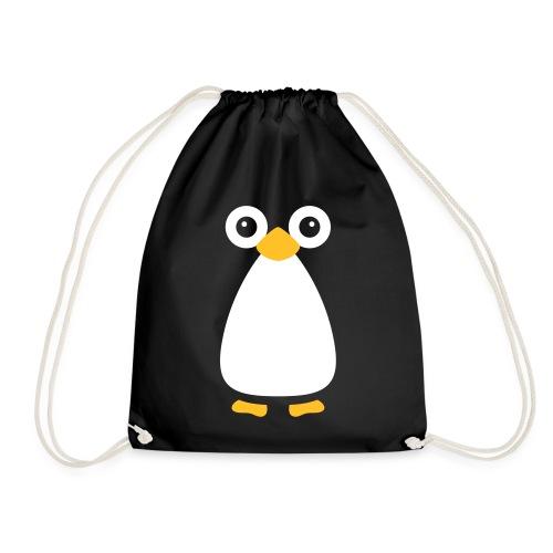 Cute Vector Penguin Drawstring Bag - Drawstring Bag