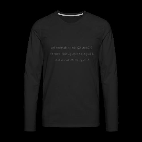 Transfer Shirt Glücksformel m - Männer Premium Langarmshirt
