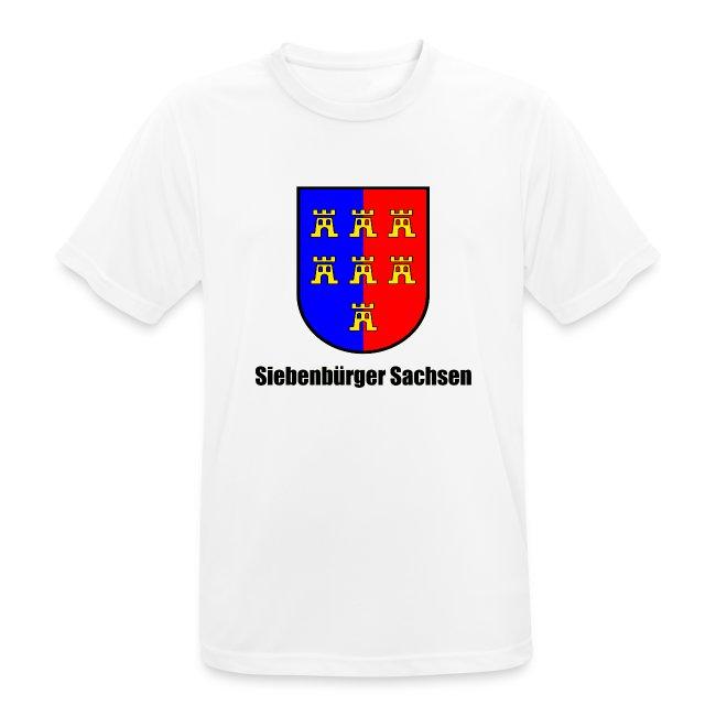 """T-Shirt """"Siebenbürger Sachsen"""" mit farbigem Sachsenwappen"""