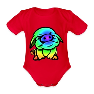 Defiant Pig Multi - Organic Short-sleeved Baby Bodysuit