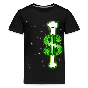 Baton Twirling Dollar  - Teenage Premium T-Shirt