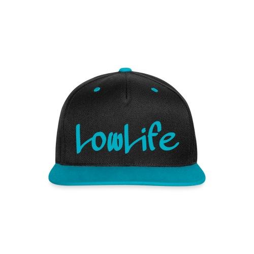 LowLife Snapback Türkis - Kontrast Snapback Cap