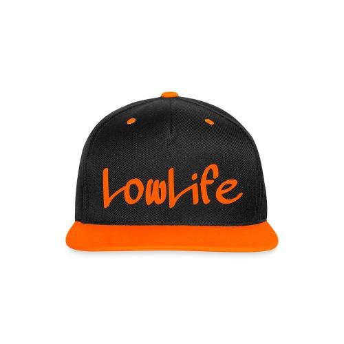 LowLife Snapback Orange - Kontrast Snapback Cap