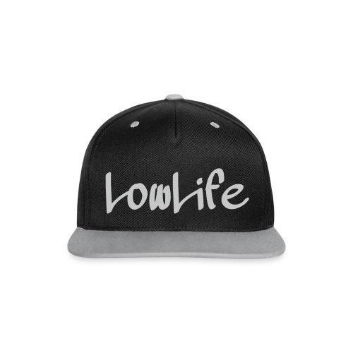 LowLife Snapback Grau - Kontrast Snapback Cap