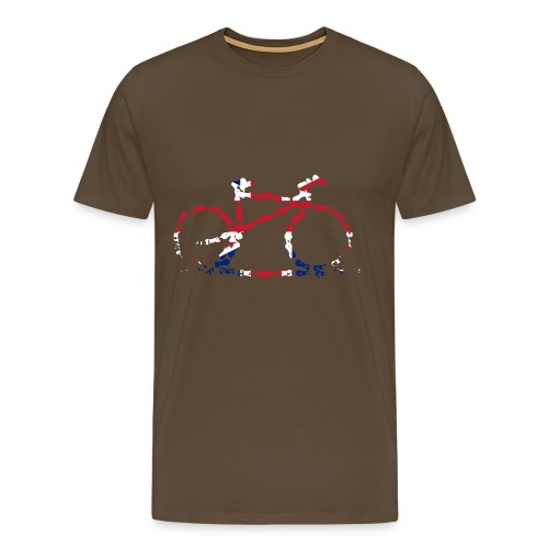 GB Cycling Chain Print Premium - Men's Premium T-Shirt