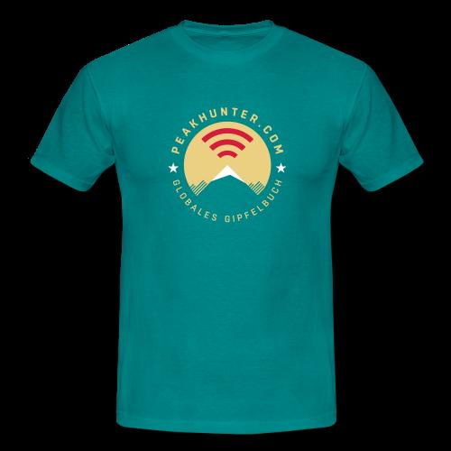 Peakhunter Globales Gipfelbuch Divablau - Männer T-Shirt