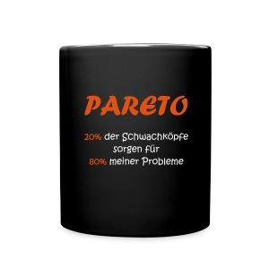 Die Tasse zum Pareto Prinzip - Tasse einfarbig