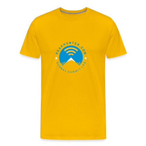 Peakhunter Global Summit Log Yellow - Männer Premium T-Shirt