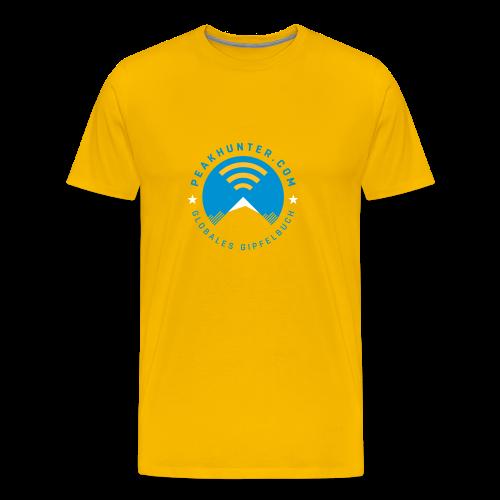 Peakhunter Globales Gipfelbuch Gelb - Männer Premium T-Shirt