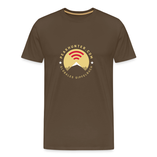 Peakhunter Globales Gipfelbuch Braun - Männer Premium T-Shirt