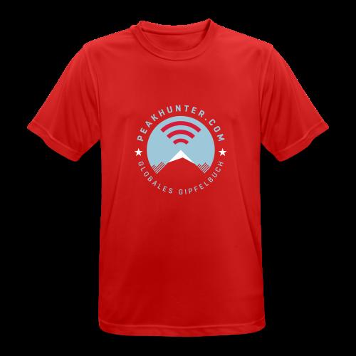 Peakhunter Globales Gipfelbuch Rot - Männer T-Shirt atmungsaktiv