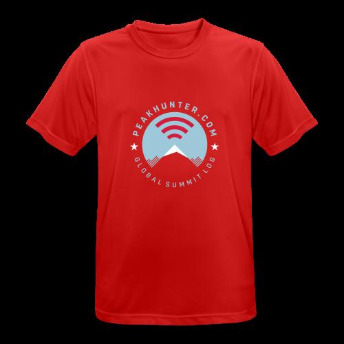 Peakhunter Global Summit Log Red - Männer T-Shirt atmungsaktiv