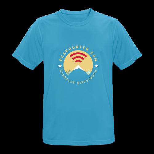 Peakhunter Globales Gipfelbuch Saphirblau - Männer T-Shirt atmungsaktiv