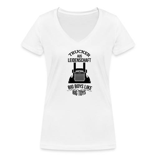 TRUCKER BIG BOYS LIKE BIG TOYS FRAUEN SHIRT - Frauen Bio-T-Shirt mit V-Ausschnitt von Stanley & Stella