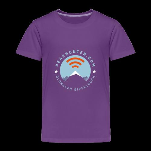 Kinder T-Shirt Peakhunter Globales Gipfelbuch - Kinder Premium T-Shirt