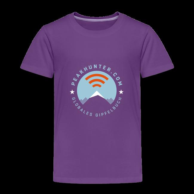 Kinder T-Shirt Peakhunter Globales Gipfelbuch