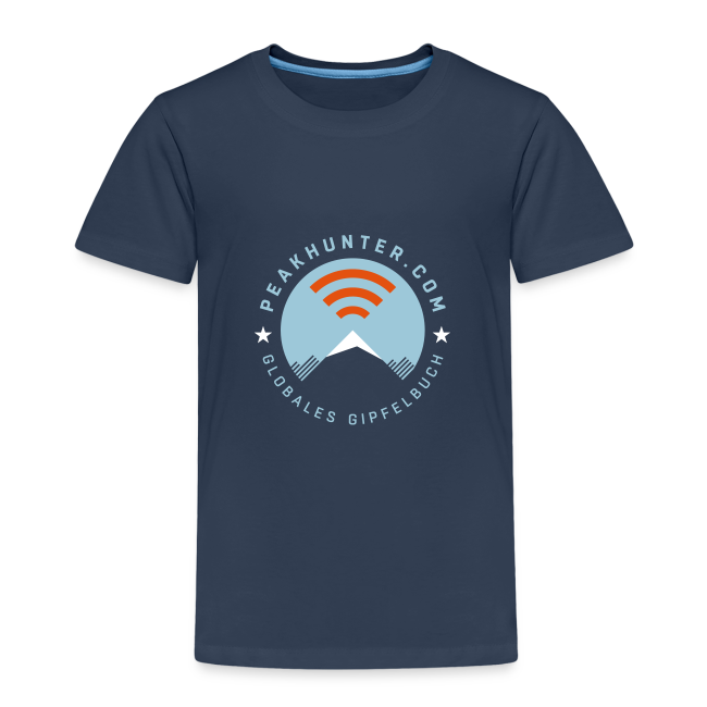 Kinder T-Shirt Peakhunter Globales Gipfelbuch Navy