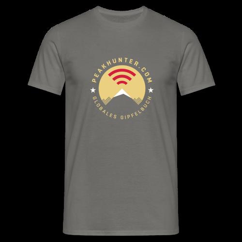 Peakhunter Globales Gipfelbuch Anthrazit - Männer T-Shirt