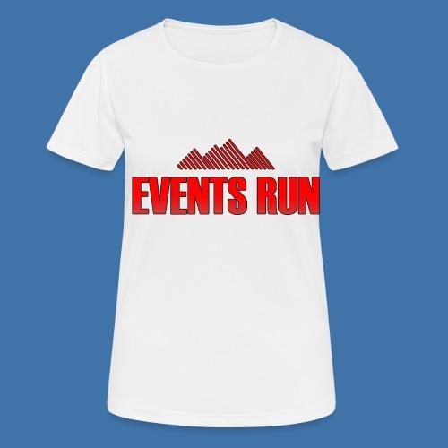 T-shirt Running Femme Events Run - Blanc / Rouge  - T-shirt respirant Femme