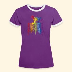 Damen KontastShirt - Over the Rainbow - Frauen Kontrast-T-Shirt
