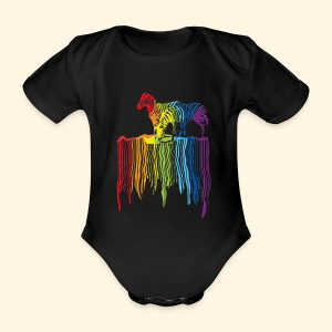 BabyBody - Over the Rainbow - Baby Bio-Kurzarm-Body