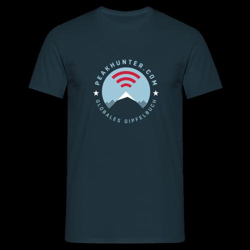 Peakhunter Globales Gipfelbuch Navy - Männer T-Shirt