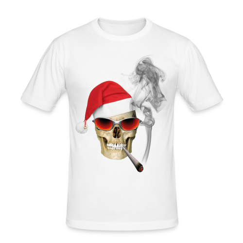 CHRISTMAS SKULL - Männer Slim Fit T-Shirt