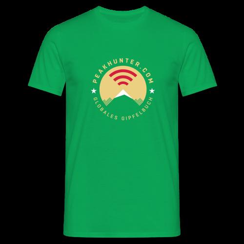 Peakhunter Globales Gipfelbuch - Männer T-Shirt