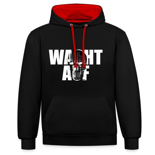 Wacht auf! - Kontrast-Hoodie