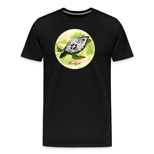 The Tortoise Shell - Color in circle - Men's Premium T-Shirt
