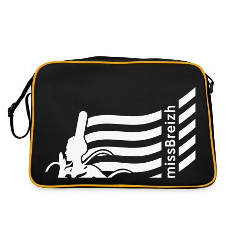 sac sport missBreizh avec flex blanc paillettes Recto verso - Sac Retro