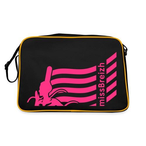 sac sport missBreizh avec flex rose flashi Recto verso - Sac Retro
