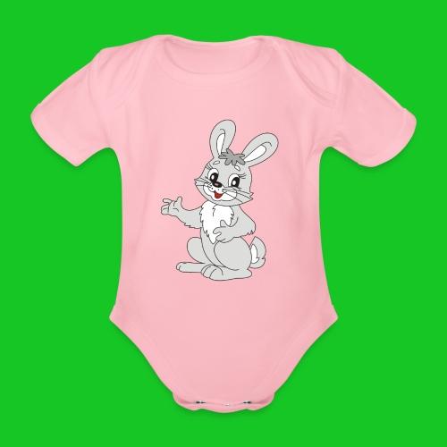 Konijn bunny rompertje - Baby bio-rompertje met korte mouwen