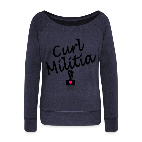 Curl Melitia - Women's Boat Neck Long Sleeve Top