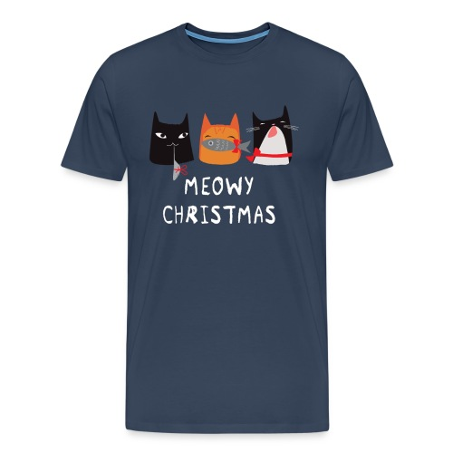 Meowy Christmas Cats - Männer Premium T-Shirt