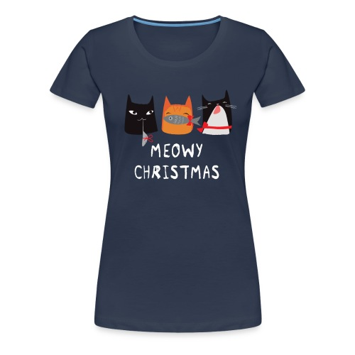 Meowy Christmas Cats - Frauen Premium T-Shirt